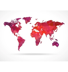 Sparkle diamond world map vector image
