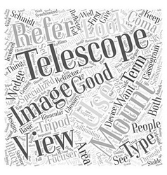 The glossary of telescopes word cloud concept vector