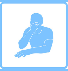 thinking man icon vector image