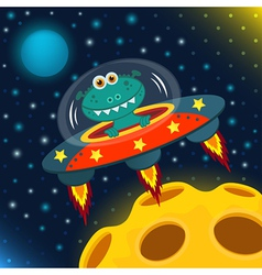 Ufo alien vector