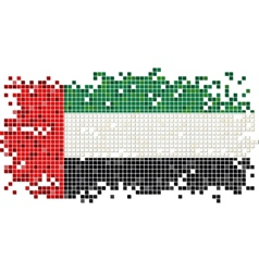 United Arab Emirates grunge tile flag vector image vector image