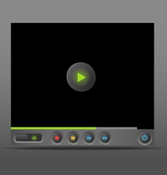 Web player template vector image vector image