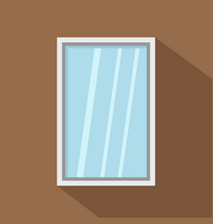 White window frame icon flat style vector