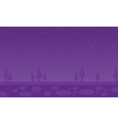 Silhouette of spruce scenery vector