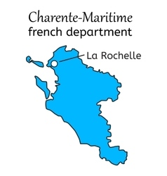 Charente-maritime french department map vector