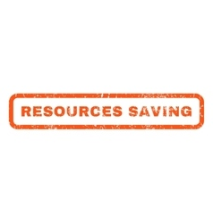 Resources saving rubber stamp vector
