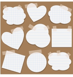 Paper stickers with scotch tape vector