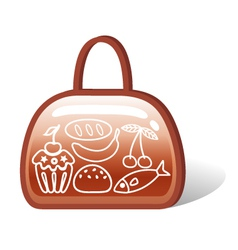 Bag of food vector