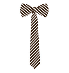 Isolated textured necktie vector