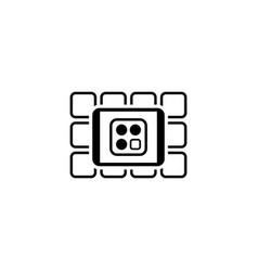 online services icon flat design vector image