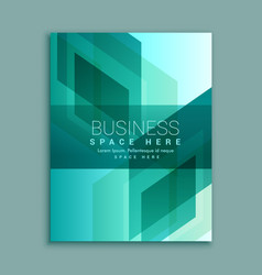 Business brochure design in modern abstract shapes vector