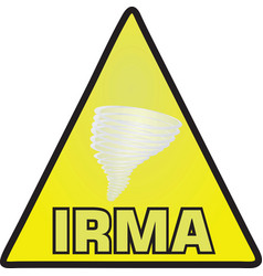 hurricane irma sign vector image