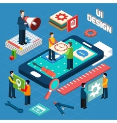 User interface design concept symbols layout vector