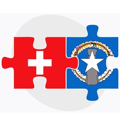 Switzerland and northern mariana islands vector