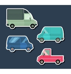 Urban traffic vehicles vector