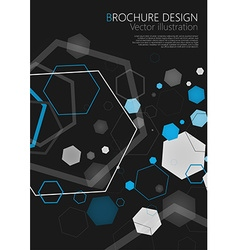 Abstract geometric black hexagon background vector image