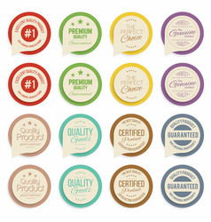 badges and labels collection quality assurance vector image vector image