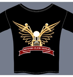Biker tee shirt vector
