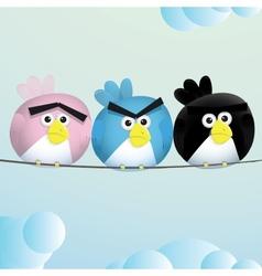 Birds angry sad espression vector