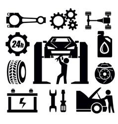 car repair icon vector image vector image