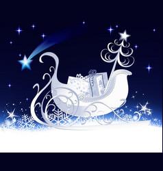 Christmas sleigh vector