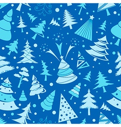 Christmas tree seamless pattern flat design vector