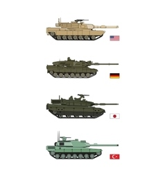 Collection military transportation of tanks vector