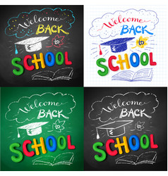 collection of welcome back to school posters vector image