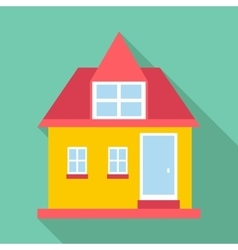 Cottage house icon flat style vector