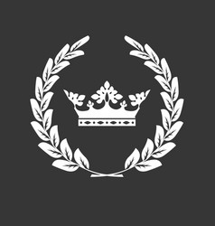 crown and laurel wreath - family blazon vector image vector image