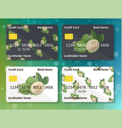 Design for credit card with feijoa vector