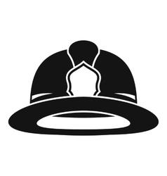 Fireman helmet icon simple style vector