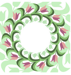 Flat stile floral background vector