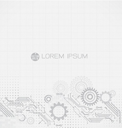 futuristic circuit retro technology background vector image