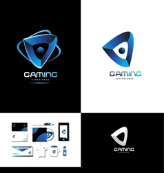 Game playing gaming logo vector