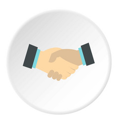 handshake icon circle vector image