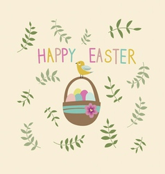 Happy Easter post card design vector image
