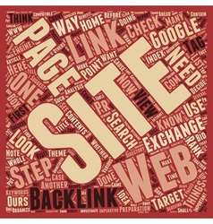 How To Make Your Backlinks Count I text background vector image vector image