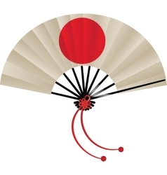 Japanese flag fan vector