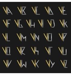Letter v with alphabet vector