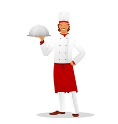 Male chef in uniform vector