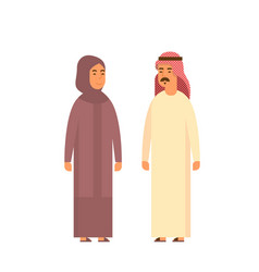 muslim couple people talking business man and vector image
