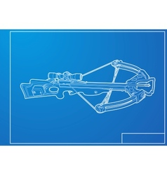 Outline crossbow vector image