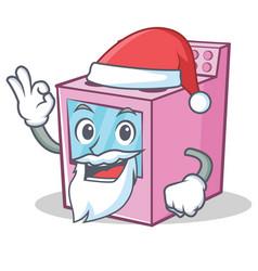 Santa gas stove character cartoon vector