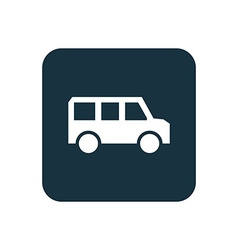 school bus icon Rounded squares button vector image