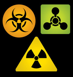 Signs of chemical biological and radioactive vector