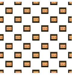 Slot machine with three sevens pattern vector