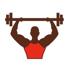 strong man african bodybuilder icon vector image