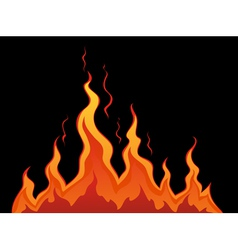 Stylized fire vector image vector image