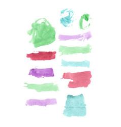 watercolor multicolor set vector image vector image
